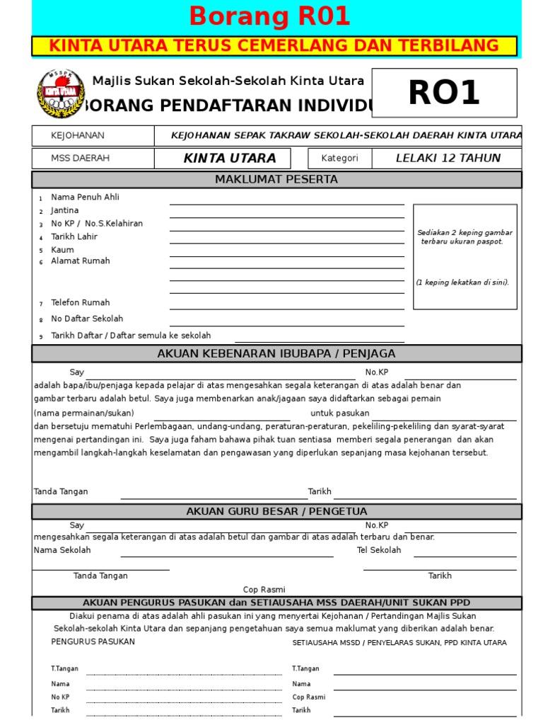 Borang R02 Pendaftaran