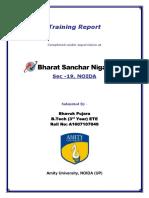 BSNL Final Report- Bhavuk Pujara -A1607107049