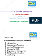 Lecture 1 Fundamentals of General and HR Management