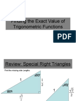 Finding the Exact Value of Trigonometric Functions