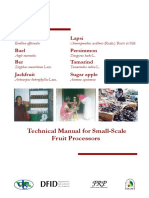 Fruit Small Scale Processes