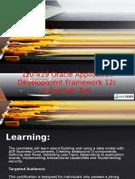 1Z0-419 Oracle Application Development Framework 12c Essentials Test