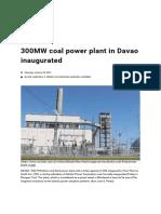 300MW coal power plant in Davao inaugurated.pdf