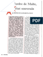 Ordre de Malte - Historia - Novembre 1987