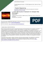 Retrofit Optimization Framework for Compact Heat Exchangers