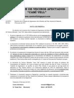 Nota Prensa Com Sgto 28-6-2010