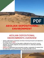 Clastic Sedimentology Aeolian Depositional Environment May 2016 1