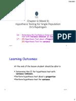 Chapter 06 W9 L6 L7 Hypoyhesis Testing C6