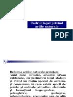 Cadrul Legal Privind Ariile Naturale Protejate