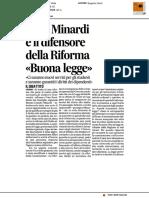 Ersu, Minardi difende la Riforma
