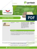 Lucent Wavestar - Carritech Telecommunications