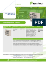 Nortel Optical Metro - Carritech Telecommunications