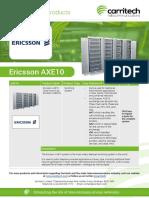 Ericsson AXE10 - Carritech Telecommunications