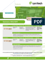 Siemens SRA/SRT - Carritech Telecommunications
