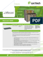 Marconi OMS - Carritech Telecommunications