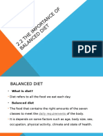 2.2 the Importance of Balanced Diet