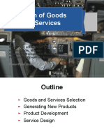 Design of Goods and Services