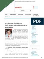 O Conceito de Indícios Suficientes No Processo Penal Português _ O DIREITO ONLINE 法
