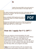 EAD Requirements for F1 Students