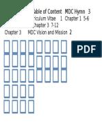 Achievements Table of ContentMDC Hymn3