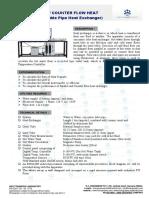 Parallel Flow Counter Flow Heat Exchanger Double Pipe