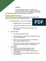 GWS 498 Oral Presentation Tips