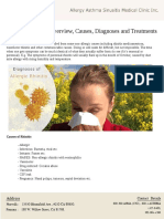 Allergic Rhinitis- Overview, Causes, Diagnoses and Treatments