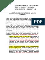 Évolution Historique de La Littérature Enfantine en Langue Française