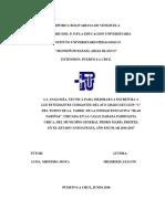 LA ANALOGÍA, TECNICA PARA MEJORAR LA ESCRITURA A LOS ESTUDIANTES CURSANTES DEL 4TO GRADO  (Mildrixis Azacon)