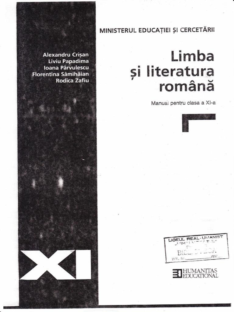 Copy of Manual Romana Humanitas Clasa XII Final