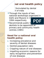 Plan of Extending Oral Health Care