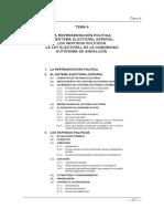 Tema 3. La Representación Politica en España