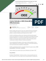 Como Calcular o OEE (Overall Equipment ...Ss) _ Osmair Matias _ Pulse _ LinkedIn