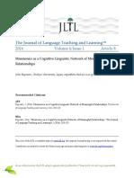 Mnemonics as a Cognitive-Linguistic Netw