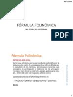 FÓRMULA POLINÓMICA- CJDC