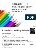 Disability Awareness and Sensitivity