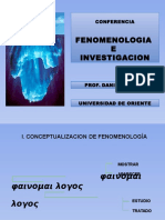i. Fenomenologia e Investigacion