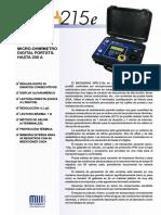 microhmimetro portatil MPK215e