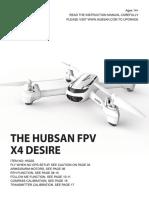 Hubsan H502S Manual