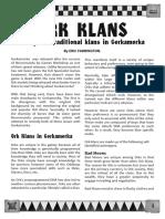 Ork Klan Rules
