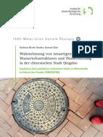 Wahrnehmung von neuartigen Wasserinfrastrukturen und Wassernutzung in der chinesischen Stadt Qingdao