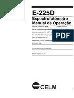 Espectrofotometro Celm E-225D