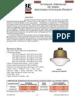 GL4256- Automatic Sprinkler Pendent
