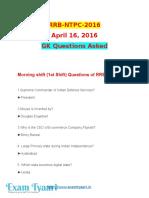 RRB-NTPC_2016 (April 16)