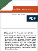 1. Etika Penelitian Kesehatan (I)