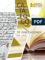 Catálogo publicaciones ABNB