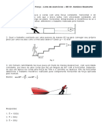 Lista de Exercícios de Trabalho Mecanico