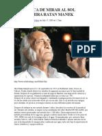 La Técnica de Mirar Al Sol Sobre Hira Ratan Manek