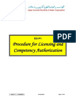 ED-P1 Licensing and Competency Authorization
