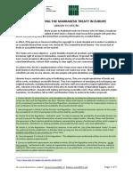 Eu Marrakesh Ratification - Library Proposals